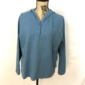 Woolrich Hooded Blue Pullover Size Pockets